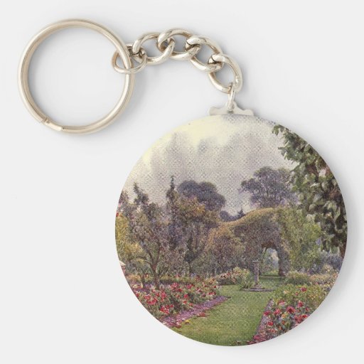 Vintage Garden Art - Rowe, Ernest A. Key Chains