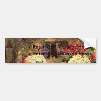 Vintage Garden Art - Wallis, Rosa Bumper Sticker