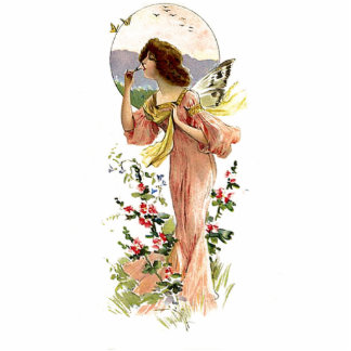 Vintage Garden Fairy Photo Sculpture