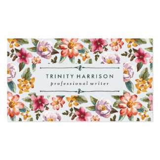 Vintage Garden   Floral Pack Of Standard Business Cards
