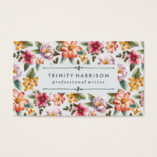 Vintage Garden | Floral Business Card