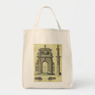 Vintage Garden Gate Arch, Renaissance Architecture Tote Bag