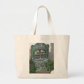 Vintage Garden Grate Large Tote Bag