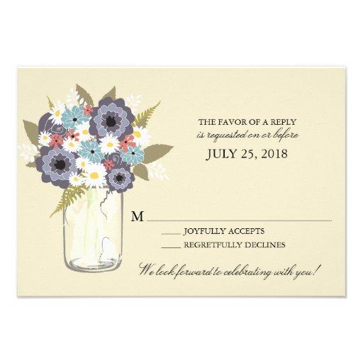 Vintage Garden Mason Jar | RSVP Personalized Invites