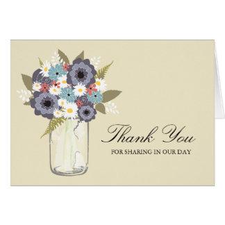 Vintage Garden Mason Jar | Thank You Cards