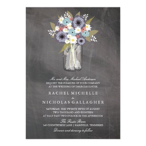Vintage Garden Mason | Wedding Card