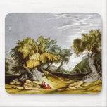 Vintage Garden of Gethsemane Illustration 1846 Mouse Mat