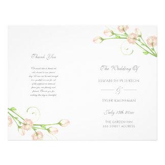 Vintage Garden Roses - wedding program 21.5 Cm X 28 Cm Flyer