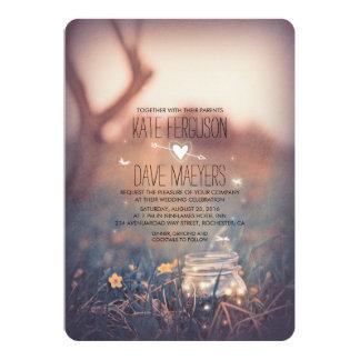 Vintage Garden Rustic Mason Jar Elegant Wedding Card
