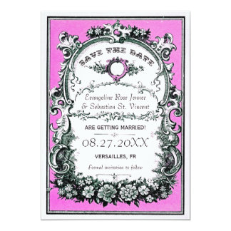 Vintage Garden Wedding Save the Date Cards Announcements
