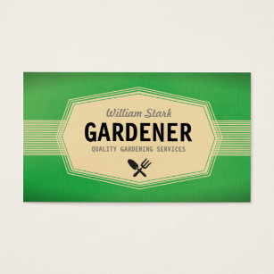 Vintage business cards business card printing zazzle uk vintage gardener business cards reheart Image collections