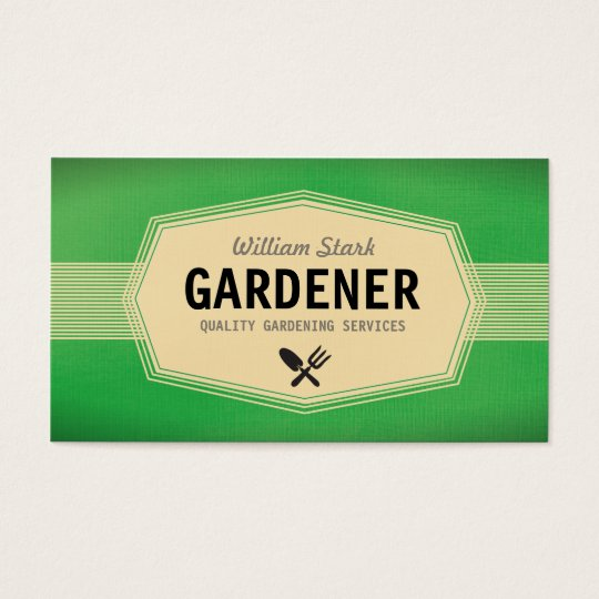 Vintage Gardener Business Cards
