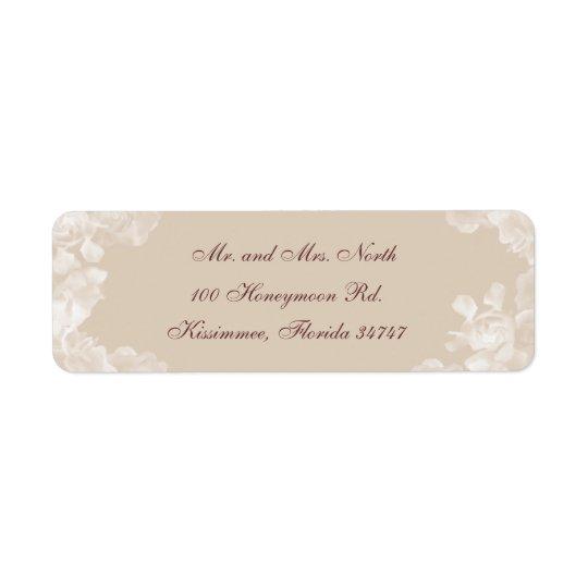 Vintage Gardenia Return Address Label