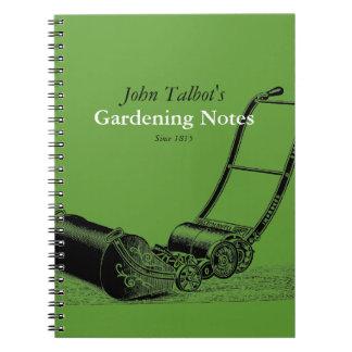 VINTAGE Gardening Tools Lawnmower 2 Garden Notes Notebooks