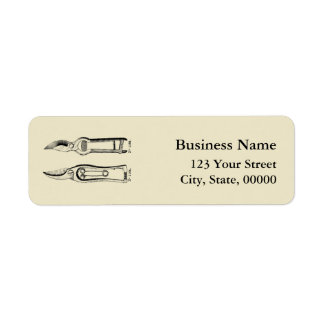 VINTAGE Gardening Tools Pruners Address Labels