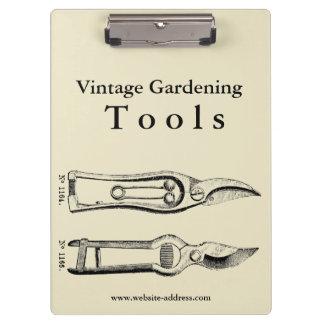 Vintage Gardening Tools Pruners Clipboard