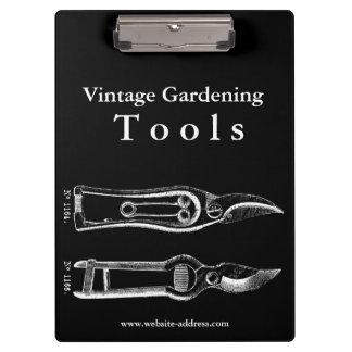 Vintage Gardening Tools W Pruners Clipboard