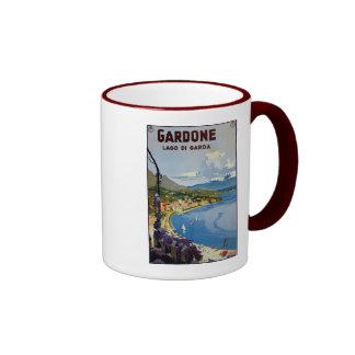 Vintage Gardone Lake Garda Italian travel Ringer Mug