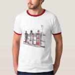 Vintage gas pumps tshirt