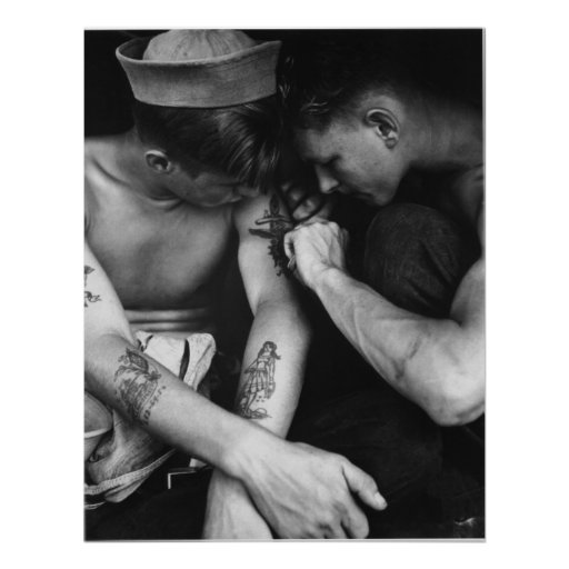 Vintage gay interest hunk sailors with tattoos posters