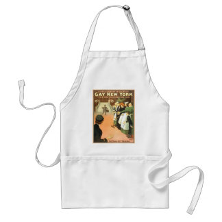 Vintage Gay New York Theater Poster Aprons