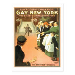 Vintage Gay New York Theatre Poster Postcard
