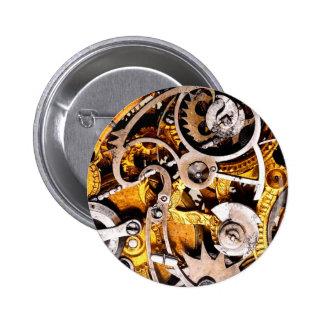 Vintage Gears Steampunk Steam Punk Watch Clock 6 Cm Round Badge