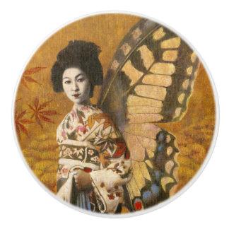 Vintage Geisha Ceramic Knob