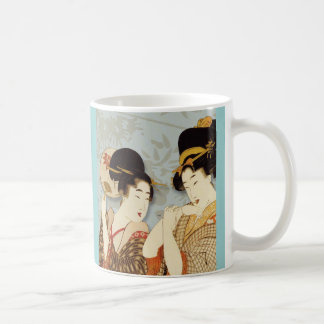 Vintage Geisha Girls Basic White Mug