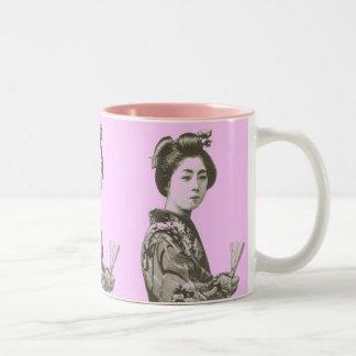 Vintage Geisha Two-Tone Mug
