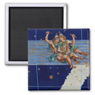 Vintage Gemini Star Chart Magnet