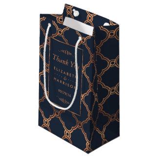 Vintage Geometric Art Deco Gatsby Wedding Favor Small Gift Bag