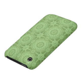 Vintage Geometric Circles in Bright Green iPhone 3 Cases