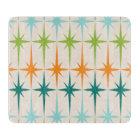 Vintage Geometric Starbursts Glass Cutting Board