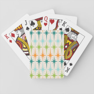 Vintage Geometric Starbursts Playing Cards
