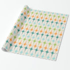 Vintage Geometric Starbursts Wrapping Paper