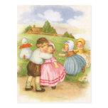 Vintage Georgie Porgie Mother Goose Nursery Rhyme Postcards