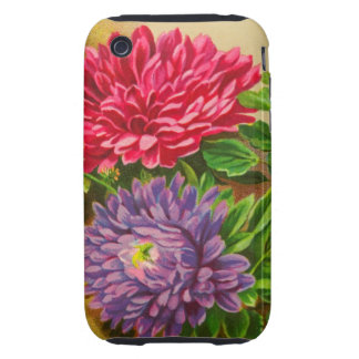 Vintage Gerber Daisies Tough iPhone 3 Covers