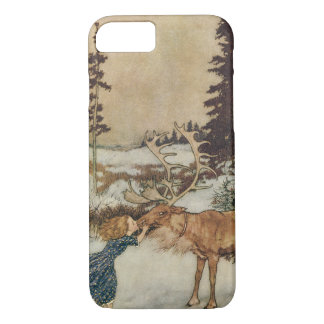 Vintage Gerda and the Reindeer by Edmund Dulac iPhone 8/7 Case