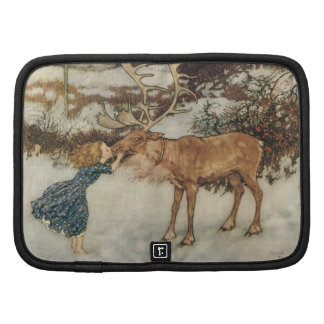 Vintage Gerda and the Reindeer by Edmund Dulac Folio Planner