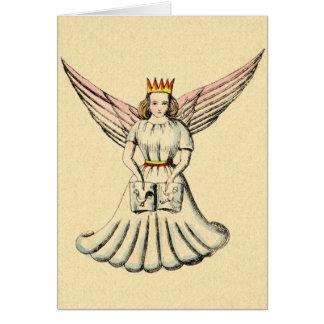 Vintage German Angel Christkind Christmas Card