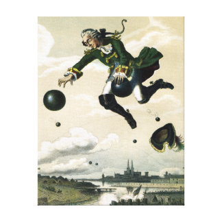 Vintage German Baron Munchausen Adventures Canvas Print