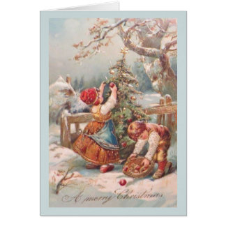 Vintage German Children Christmas Card