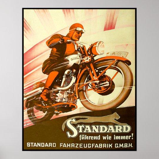 Vintage German Motorcycle Advertisement Poster