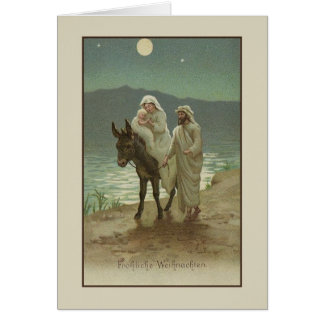 Vintage German Religious Christmas Card