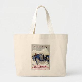 Vintage German Road Race Ad Jumbo Tote Bag