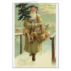 Vintage German Santa Christmas Card