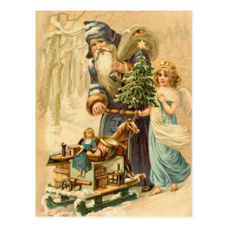 Vintage German Santa Postcard