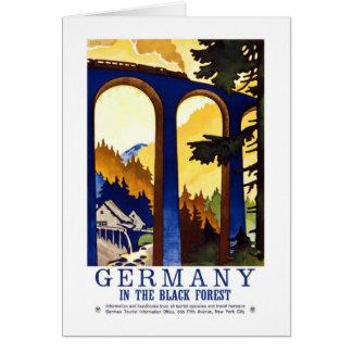 Vintage Germany Black Forest Art Card