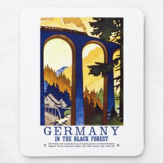 Vintage Germany Black Forest Art Mouse Mat